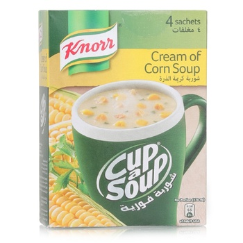 Knorr Cup A Soup - Cream Of Corn 4x20g