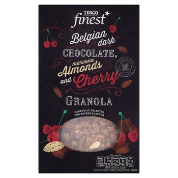 Tesco Finest Belgian Dark Chocolate Almond & Cherry Granola 500g