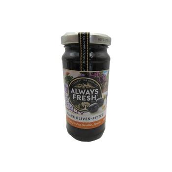 Always Fresh Black - Pitted Olives 220g