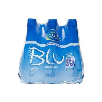 Oasis Blu Sparkling Water Plain 6x500ml