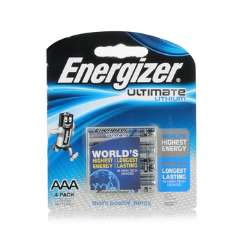 Energizer Lithium Battery L92Bp4 Aaa1.5V