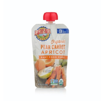 Earth's Best Organic Pear Carrot Apricot Baby Food Puree 120g