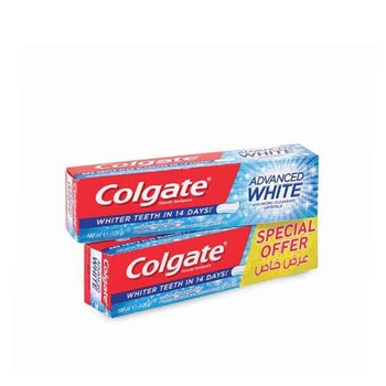 Colgate advanced white toothpaste 100ml pack of 2