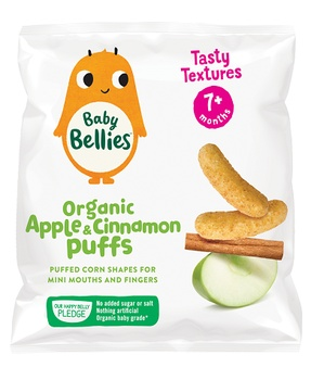 Baby Bellies Organic Apple&Cinnamon Puffs (7+Months) 12g