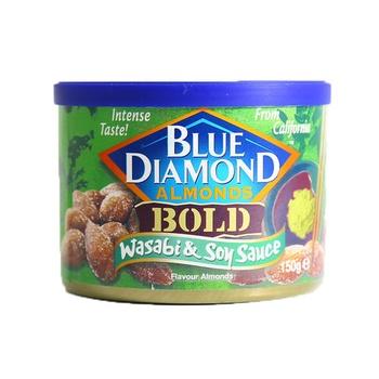 Blue Diamond Almond Gold Wassabi & Soy Sauce 150g