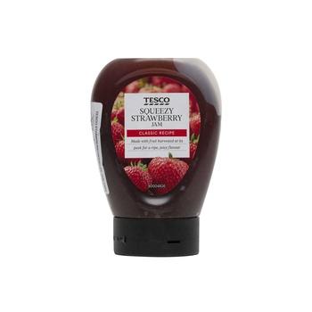 Tesco Strawberry squeezy Jam 340g