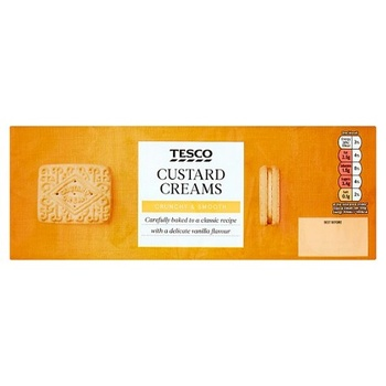 Tesco Custard Cream Biscuits 400g