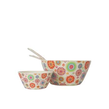 Bamboo Fibre Salad Bowl 7 pcs Set