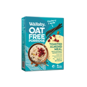 Wallaby Toasted Almond Meal - Carnberry & Vanilla 6*40g