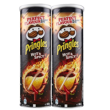 Pringles Hot & Spicy 165g Pack of 2
