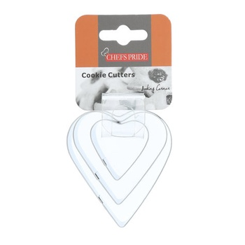 Chefs Pride 3 Pc Stainless Steel Cookie Cutter