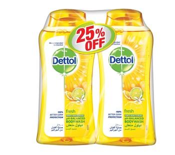 Dettol Fresh Bodywash 2 x 250 ml @ 25% Off
