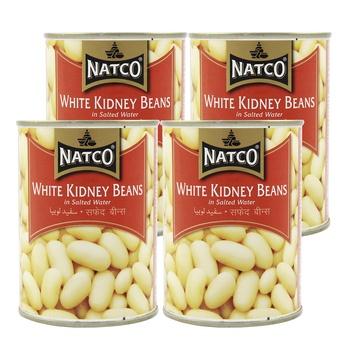 Natco White Kidney Beans 400g Pack of 4