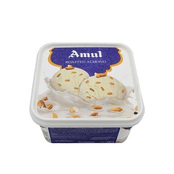 Amul Roasted Almond Ice Cream 1 ltr