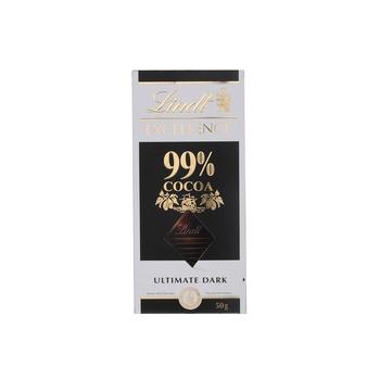 Lindt Excellence Dark 99% Cocao Bar 50g