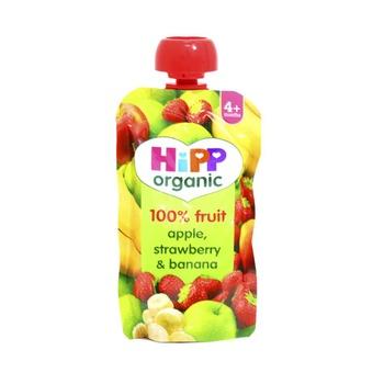 Hipp Organic Baby Food Apple Strawberry & Banana 100g