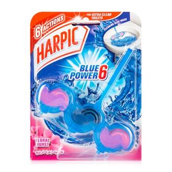 Harpic Toilet Block Blue Power 6 Floral Burst 39g