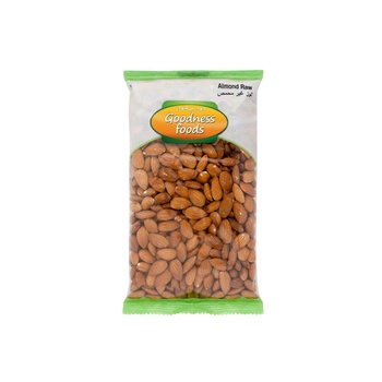 Goodness Foods Almonds Raw 1kg