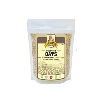 London Superfoods Organic Old Fashioned Rolled Oats Gluten Free 250g