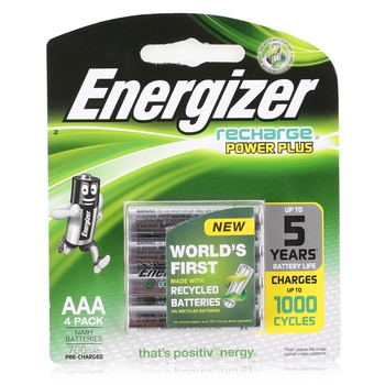 Energizer Rechargeable Battery AAA x 4