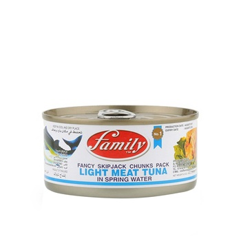 Family Light Meat Tuna Chunk In Spring Water 185g