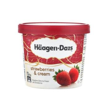 Haagen Dazs Strawberries & Cream Ice Cream 100ml