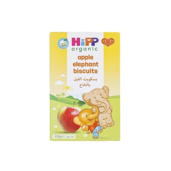 HiPP Organic Little Nibbles Apple Elephant Biscuits 150g