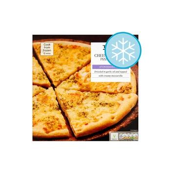 Tesco Garlic Cheese Pizza Brd 210g