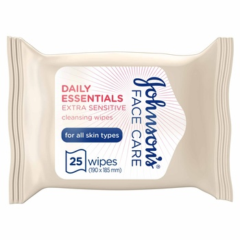 Johnsons Fragrance Free 25 Facial Wipes