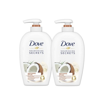 Dove Nourishing Secrets Restoring Ritual Hand Wash With Coconut Oil And Almond Milk 250ml Pack Of 2