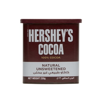 Hershey Cocoa Natural Unsweetened 230gm