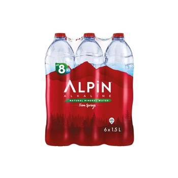 Alpin Alkaline Low Sodium Mineral Water 1.5 ltr Pack Of 6