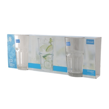 Ocean Central Hi Ball 8Oz Tumbler 3 Pc Set