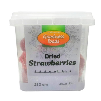 Goodness Foods Dried Strawberry 250g