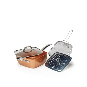Copper Chef Square Deep Dish Pan 4P 20cm&27cm