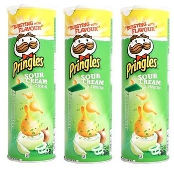 Pringles Sour Cream & Onion 3 x 165g