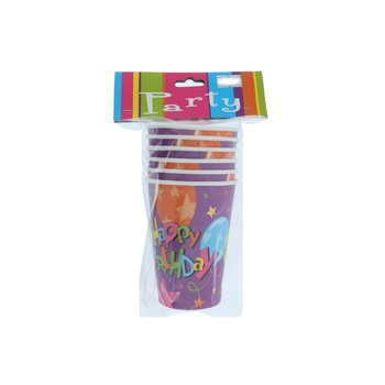 Birthday Party Cup 6pcs pack