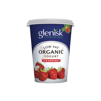Glenisk Organic Low Fat Yoghurt Strawberry 450g