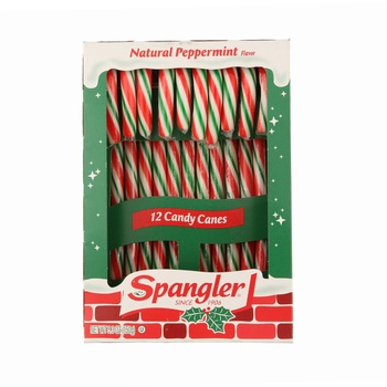Spangler Peppermint Red, Green & White Candy Canes 5.3 oz
