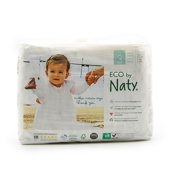 Naty By Nature Babycare Nappies 31 Nappies Size 3