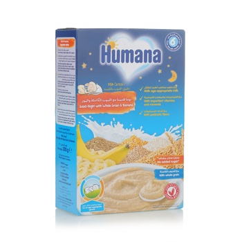 Humana Milk Cereals Good Night Banana