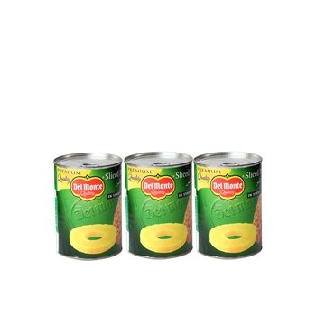 Del Monte Pine Slices in Syrup 3 x 567g