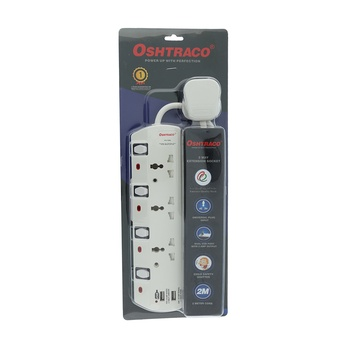 Oshtraco 3 Way Universal Extension with USB- 2 meter