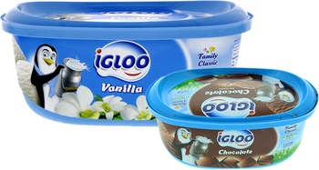 Igloo Ice Cream 1Ltr + 500Ml Assorted