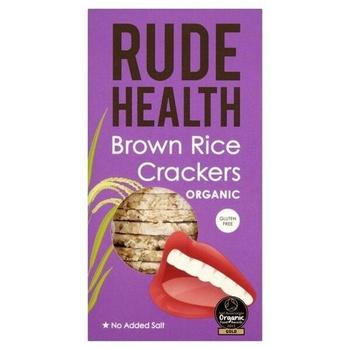 Rude Health Organic Crackers - Brown Rice 130g