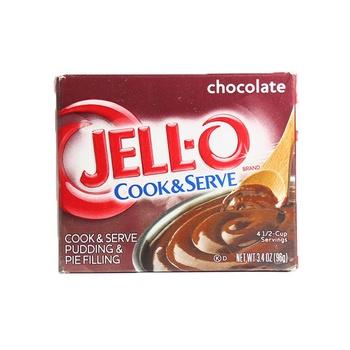 Jell-O cook & serve chocolate pudding mix 3.4oz
