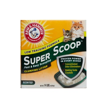 Arm & Hammer Super Scoop Clumping Litter with Odor Eliminating Baking Soda 6.35 kg