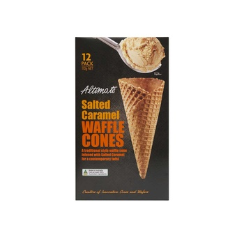 Altimate Natural Waffer Salted caramel cone 170g