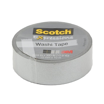 3M Scotch Expressions Washi Tape Silver