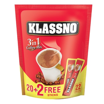 Klassno 3In1 Coffee Mix 20g (20+4)